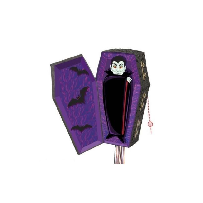 Halloween Party Pinata Vampire Coffin
