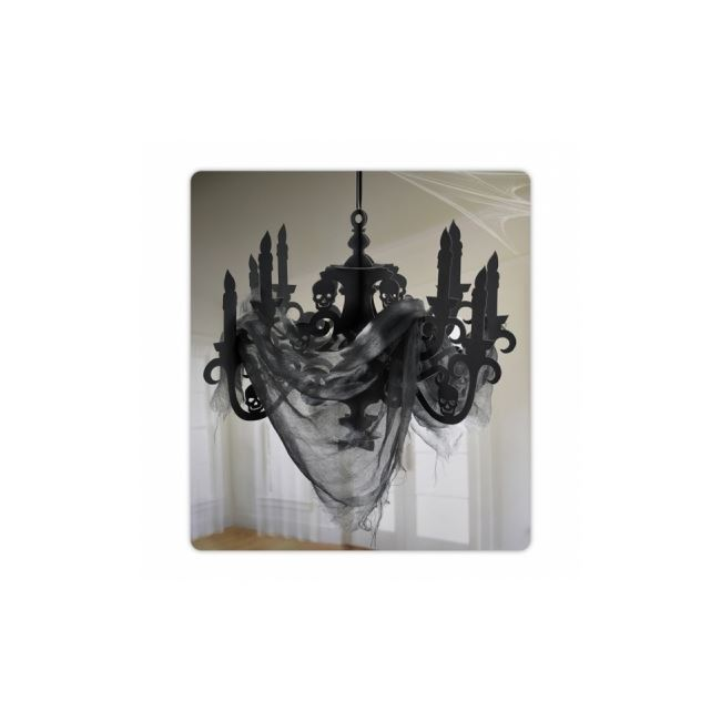 Haunted House Chandelier With Gauze Decoration