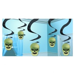 Halloween Party Cemetery Terror Skull Swirl Decorations