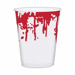 Sinister Surgery Blood Splattered Plastic Cups  x 25