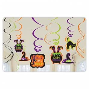 Witches Crew Halloween Party Decoration Swirls